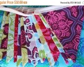 Entire Shop On SALE Bunting Banner Featuring 13 Medium Flags in Jewel Tones From Joel Dewberry's Heirloom Collection.  Photo Prop, Decoratio