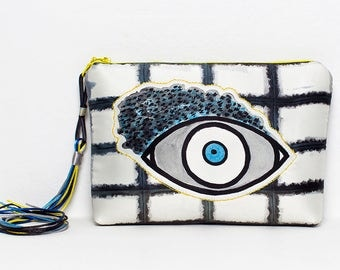 Clutch bag by Marta Fofi, Handbags with eyes, hand made bags, hand made purses. clutch bag, clutch handbag, evening clutch