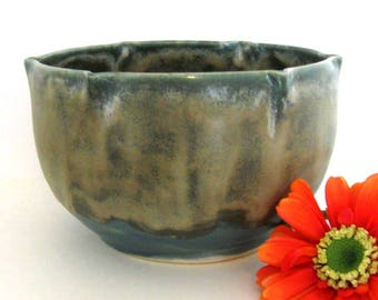 Hand Thrown Bowl - Ceramic Bowl - Cache Pot - Wheel Thrown Pottery - Stoneware Pot -  Ready to Ship