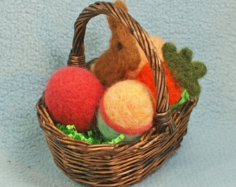 Small Easter Basket with Eggs and candy
