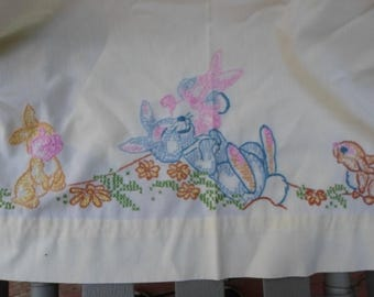 New embroidered baby sheet  With bunny rabbits