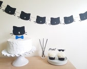 Black Cat Cupcake Toppers//Kitty Birthday Party//Cat Pet 1st Birthday Party Decor//Kitten Birthday//Any Age Any Color Cat//Cat Lady Decor