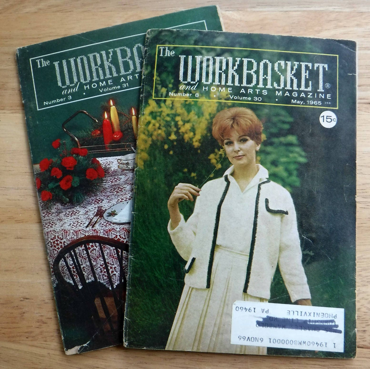 Lot of 2 1960s the workbasket and home arts magazine vintage lot of 2 1960s the workbasket and home arts magazine vintage crochet knit patterns sixties vintage crochet doilies tablecloths patterns bankloansurffo Choice Image