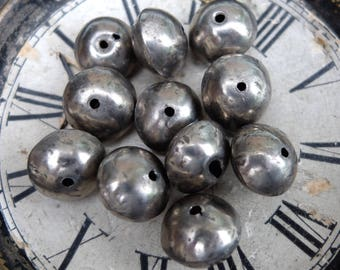 Vintage White Metal Beads Hollow African