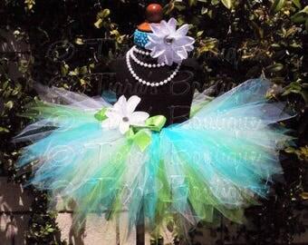 Blue Green White Tutu, Custom Sewn Pixie Tutu and Headband, Seaglass, Girls Tutu, Tween Tutu, Baby Tutu, Birthday Tutu, Tutu for Photo Shoot
