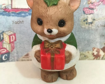 RARE Vintage Lefton Baby Bear Cub Figurine or Cake Topper