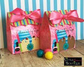 Spa Birthday Party, Personalized favor Box, Spa Favor box,Little Girl Spa Favors, Spa treat box, Birthday party, Treat box