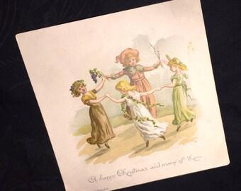 1890 L Prang and Company Christmas card