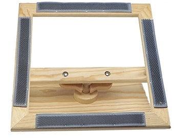 Grubers 14 inch Rug Hooking Gripper Lap Frame