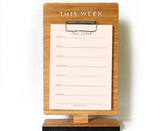 To do list notepad, display, Message Stand, Weekly Planner, Mean Planning