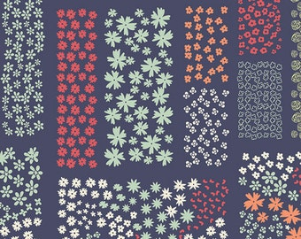 Floriculture Midnight - Cultivate - Art Gallery Fabrics - Bonnie Christine - CUL-8679 - Modern Quilting Cotton - Garden Farm Flowers Navy