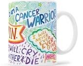 Cancer Gift, Cancer Mug, Cancer Support, Cancer Support Mug, Cancer Sucks, Chemotherapy Gift, Cancer Survivor, Cancer Patient Gift