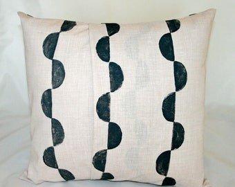 Half Moons // Accent Pillow // Cream and Gray