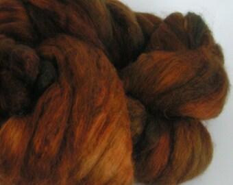 Roving Merino Silk Top Fiber CHOCOLATE SOUP Velvet Brown Russet 50 50 Spin Felt Nuno Craft Roving 2 ounces