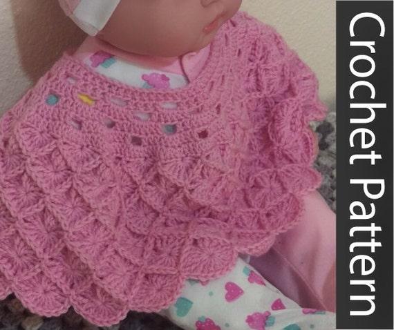 Pattern: Crochet Baby Poncho Baby Wrap Doll Poncho Doll