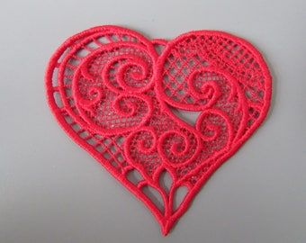 Embroidered  Heart  Applique