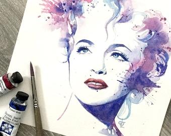 Madonna original watercolour painting