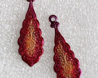 Stained and sealed embossed tear drops by joycelo
