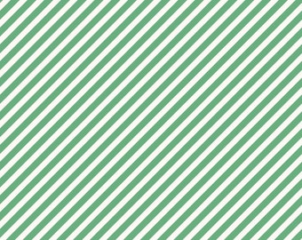 On Trend Stripe Mint - green white stripe - On Trend collection - Riley Blake - fabric by the quarter yard cut continuously - ready to ship!