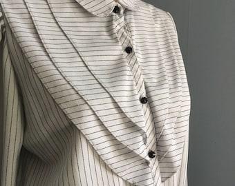 Vintage Pin Striped Work Dress. Women's Size 14