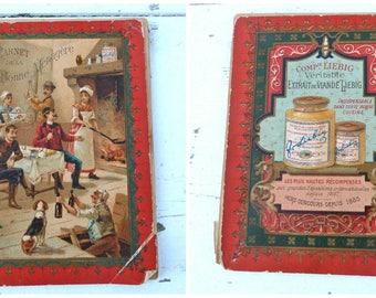 Antique 1900 French liebig advertisment Carnet de la bonne menagere