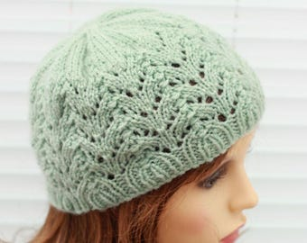 """Instant download """"isla"""" knitted ladies beanie knitting pattern, Beanie, Cap HKP6"""