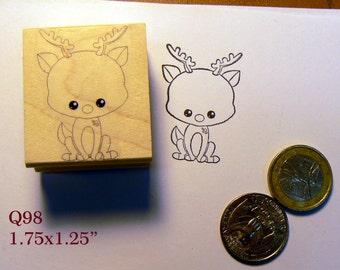 Q98 Deer rubber stamp