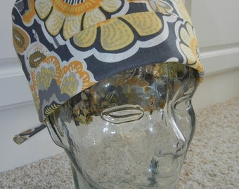 Tie Back Surgical Scrub Hat with Buttercup