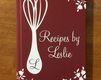 valentines day gift for her gift for him personalized recipe book recipe journal christmas gift for her