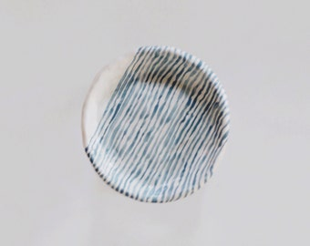 Striped Jewelry Dish
