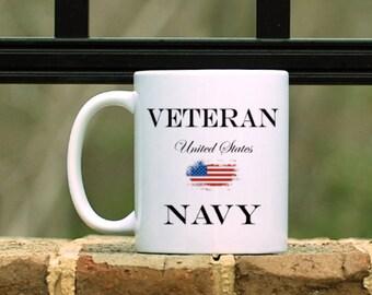United States Navy Veteran Mug