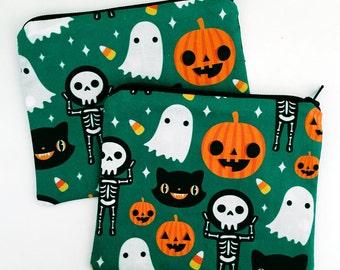 Halloween themed Zipper Pouch - Coin Purse