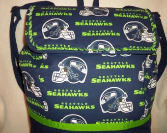 XLG Seattle Seahawks ships fREE USA 1/2 off International Back pack sports NFL school bag Great dads diaper bag