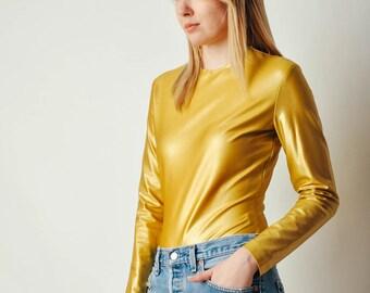 Vintage Donna Karan Gold Bodysuit