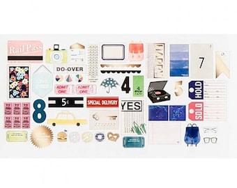 Dear Lizzy Saturday Cardstock Ephemera 46/Pkg American Crafts (376273)