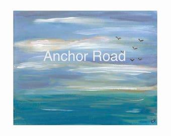 Sunset Print, Printable Art, Ocean Print, Ocean Art, Printable PDF, Beach House Decor, Beach Cottage Art, DIY Printable, Sunset Art, DIY Art