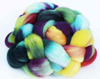 "Superwash Merino Wool Spinning Fiber, 4 oz, ""Guppy"""