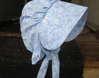 SALE,,Girls Pioneer bonnet /  Girls Blue  Prairie bonnet,,PLEASE read details inside of ad.