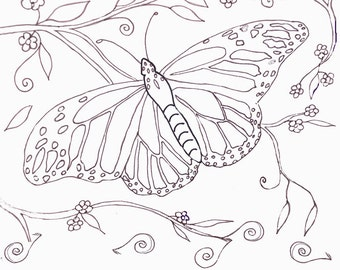 Printable Coloring Pages - Butterflies