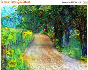 SALE-35% OFF, Painted Photographs, Home Decor, Wall Art....Gauguin Park in LaLa Land 8x10 archival Fine Art Giclee print