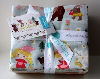 SALE They're Here! SALE 18 Fat Quarters GOLDILOCKS fabric Riley Blake Designs by Jill Howarth