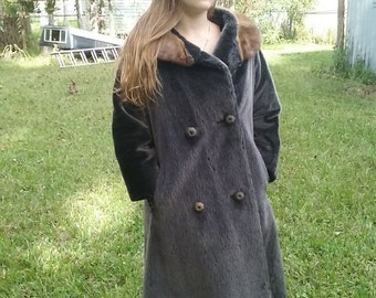 1963 Sigal Faux Fur with real Fur Collar International Ladies GarmentWorkers Union Coat