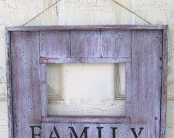 Rustic Redwood Picture Frame FAMILY 5x7