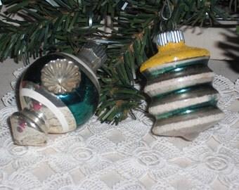Shiny Brite Vintage Christmas Ornaments - Set of 2