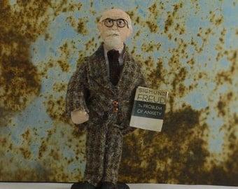 Sigmund Freud Doll Miniature Psychiatrist Science Art Collectible Psychology Art