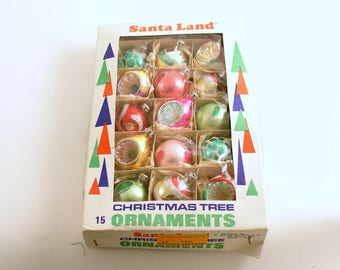 Vintage Christmas Ornaments Box Glass Ornaments Christmas Decoration Poland