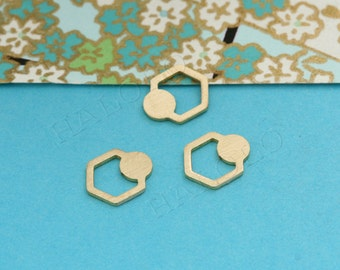 8 pcs Raw Brass Laser Cut charm finding cabochon (MCS 008)