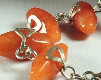 Gemstone bracelet | Aventurine bracelet | orange bracelet | bead wrap bracelet