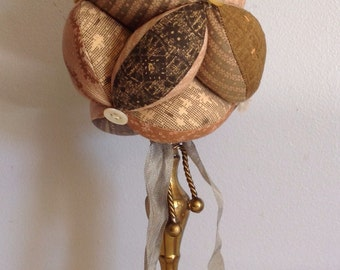 Pedestal Pincushion in  Muted Colors