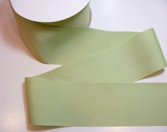 Wide Green Ribbon, Offray Celadon Green Grosgrain Ribbon 3 inches wide x 3 yards